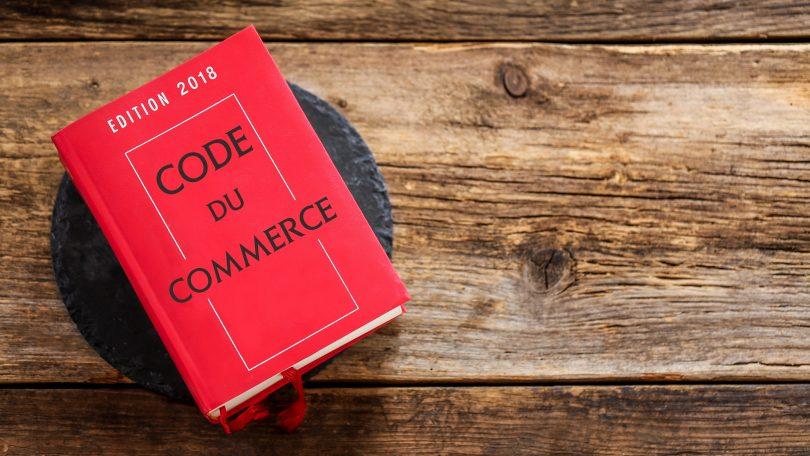 livre rouge : code du commerce